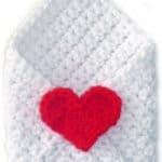 Free Crochet Pattern Envelope by Rachel Choi