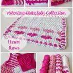 Free Crochet Pattern Heart-Rows-Dishcloth by 5 Little Monsters