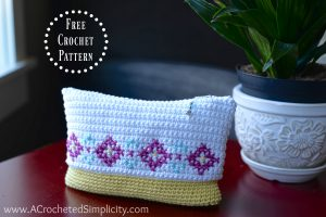 Free Crochet Pattern – Cross Stitch Make-Up Bag / Pouch