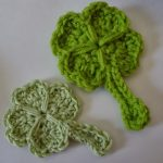 Free Crochet Pattern - Lucky Shamrock / 4 Leaf Clover by Niftynnifer's Crochet & Crafts