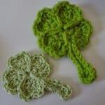 Free Crochet Pattern - Lucky Shamrock / 4 Leaf Clover by Niftynnifer's Crochet & Crafts