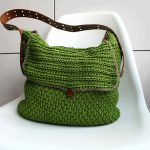 Crochet Pattern - Leather Handle Carry All Purse by Luz Patterns