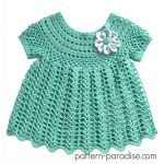 Crochet Pattern - Peaches n Cream Dress by Pattern Paradise