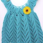 Free Crochet Pattern - Tulip Chevrons Baby Dress by Kim Guzman