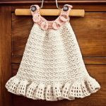 Crochet dress PATTERN - Halter Ruffle Dress by Mon Petit Violon