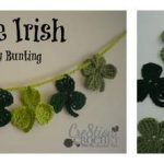 Free Crochet Pattern - Luck of the Irish St. Patty's Day Bunting by Cre8tion Crochet