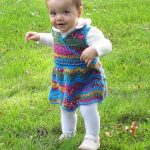 Free Crochet Pattern - Rainbow Ripple Wrap Dress by Stitches 'n' Scraps