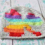 Free Crochet Pattern - Rainbow Shamrock Slouchy by Whistle & Ivy