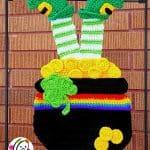 Crochet Pattern - Lucky Garden Flag Decor by Snappy Tots