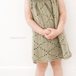 Free Crochet Pattern- Summer Diamonds Toddler Dress by One Dog Woof