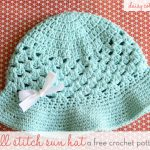 Free Crochet Pattern - Summer Sun Hat by Daisy Cottage Designs
