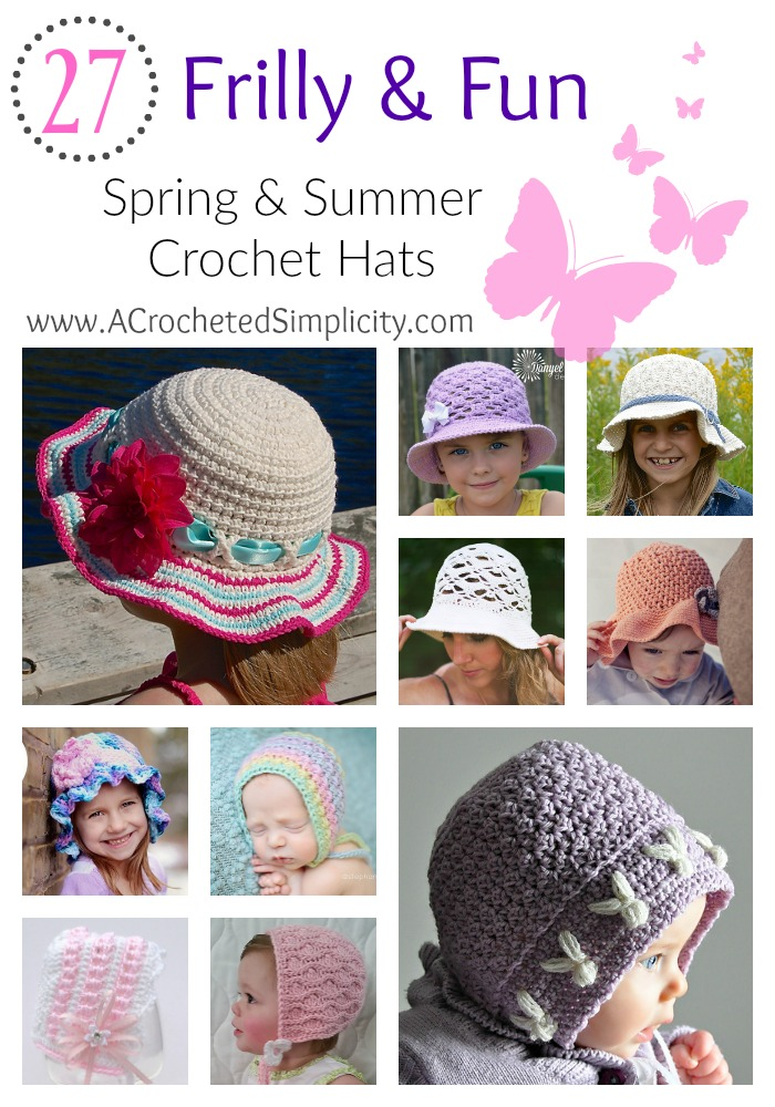 de288607dad7 27 Frilly   Fun Spring   Summer Crochet Hats - A Crocheted Simplicity