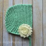Free Crochet Pattern - Ribbed Baby Bonnet by Tangled Happy