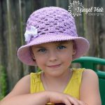 Crochet Pattern - Lady Mary Sun Hat by Danyel Pink Designs
