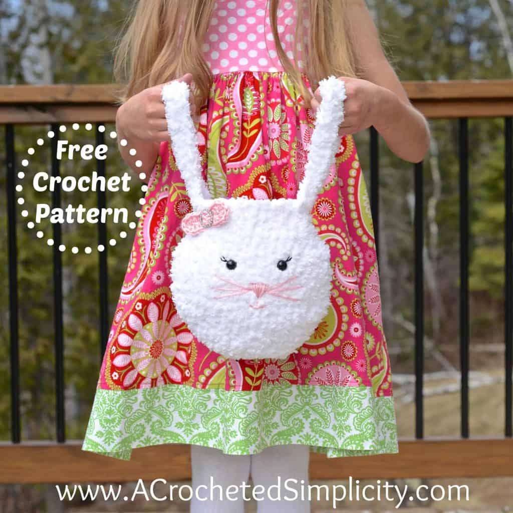 Pipsqueak Bunny Bag Free Crochet Pattern A Crocheted
