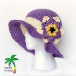 Free Crochet Pattern - Summer Joy Sunhat by Pattern Paradise