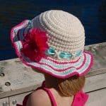 Crochet Pattern - Sweet Sassy Sunhat by A Crocheted Simplicity