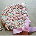 Free Crochet Pattern - Candy Sprinkles Baby Bonnet by AG Handmades