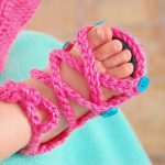 Free Crochet Pattern - Baby Button Gladiator Sandals by Whistle & Ivy
