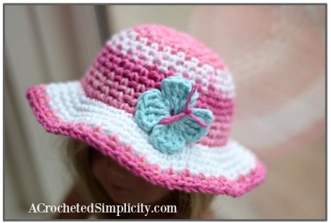 Free Crochet Pattern - Butterfly Applique - 2 Sizes - by A Crocheted Simplicity