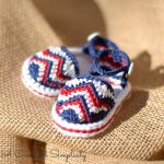 "Crochet Pattern - ""Chasing Chevrons"" Baby Sandals by A Crocheted Simplicity"