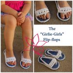 "Crochet Pattern - The ""Girlie-Girls"" Flip Flops by MNE Crafts"