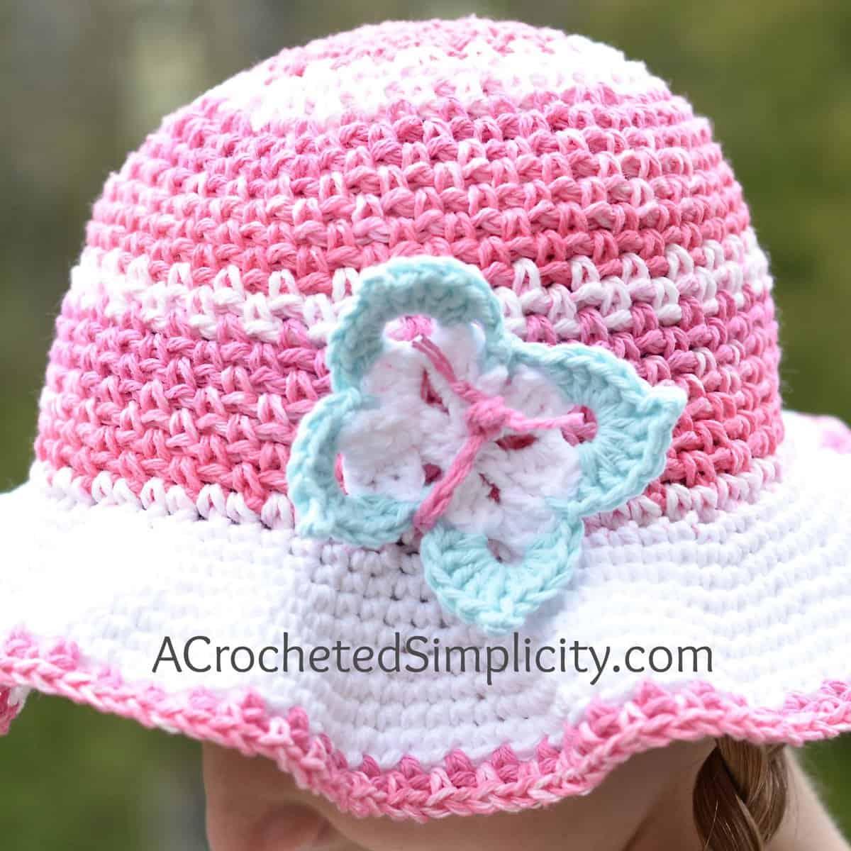 Free Crochet Pattern Butterfly Applique 2 Sizes A