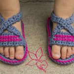 Free Crochet Pattern - Criss-Cross Sandals by MNE Crafts