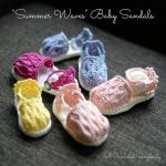 "Crochet Pattern - ""Summer Waves"" Baby Sandals by A Crocheted Simplicity"