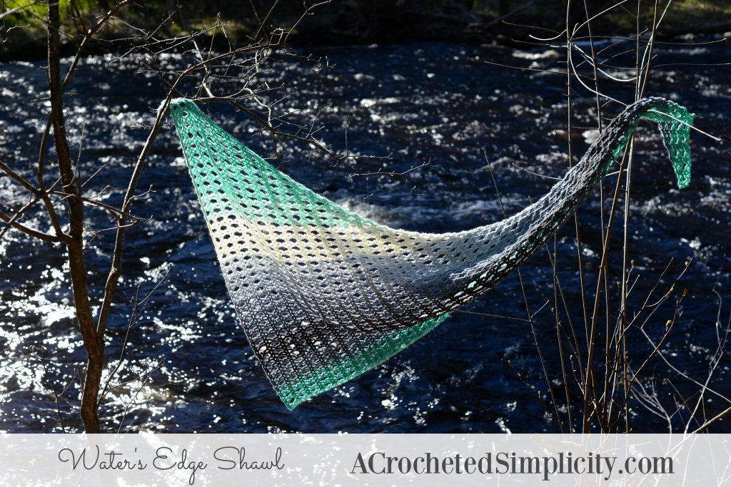 Free Crochet Pattern - Water's Edge Shawl