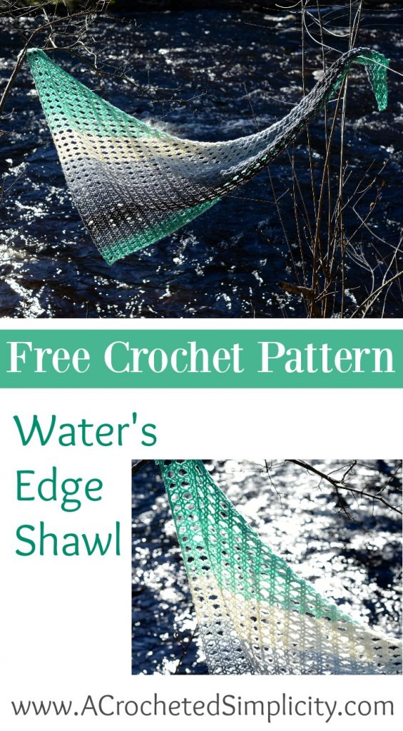 Free Crochet Pattern - Water's Edge Shawl by A Crocheted Simplicity