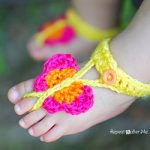 Free Crochet Pattern - Butterfly Barefoot Sandals by Repeat Crafter Me