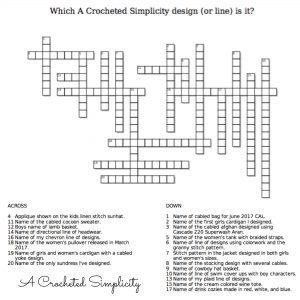 Crochet Crossword Puzzle – Test Your Knowledge!