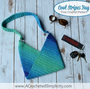 Free Crochet Pattern – Cool Stripes Bag