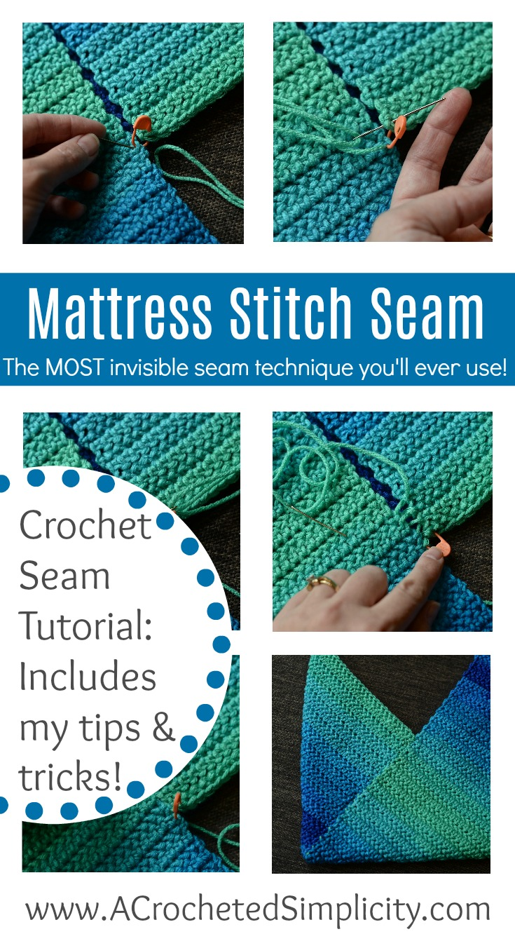 How To Sew A Mattress Stitch Seam A Crocheted Simplicity
