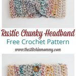 Free Crochet Pattern- Rustic-Chunky-Headband-Pattern by The Stitchin Mommy