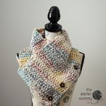 Free Crochet Pattern- Rustic Chunky Button Cowl by The Stitchin Mommy