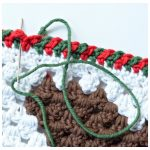 How to Crochet - Criss-Cross Edging a Photo Tutorial by A Crocheted Simplicity