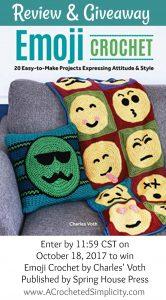 Emoji Crochet by Charles Voth – Book Review & Giveaway!
