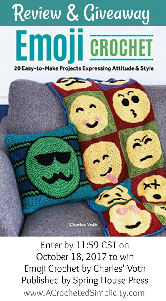 Review & Giveaway for Emoji Crochet by Charles Voth, review by A Crocheted Simplicity