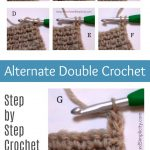How to Crochet the Alternate Double Crochet Stitch - by A Crocheted Simplicity