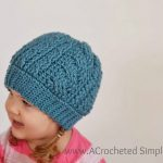 Free Crochet Pattern - Cabled Beanie (Video Tutorial Included) - by A Crocheted Simplicity
