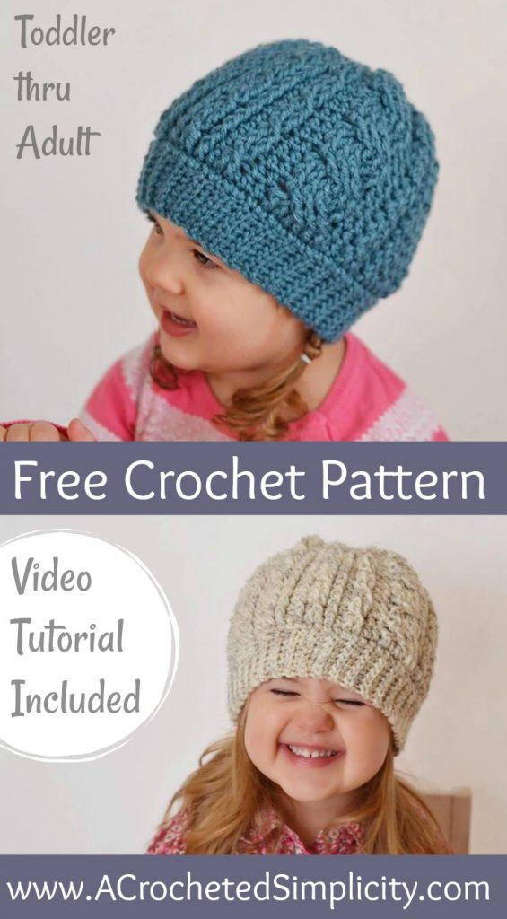 childrens cable knit hat patterns 3x3