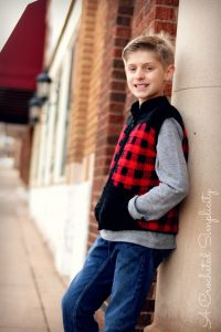Kids Plaid Vest
