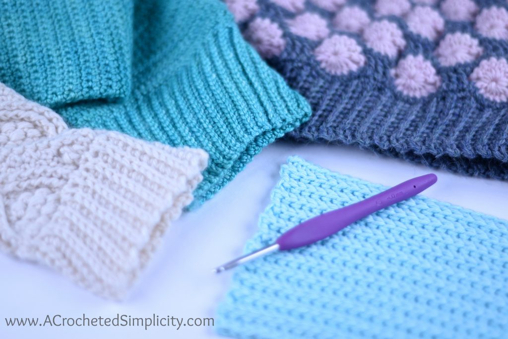 How To Add A Stretchy Knit Look Ribbed Band Or Cuff To Your Crochet