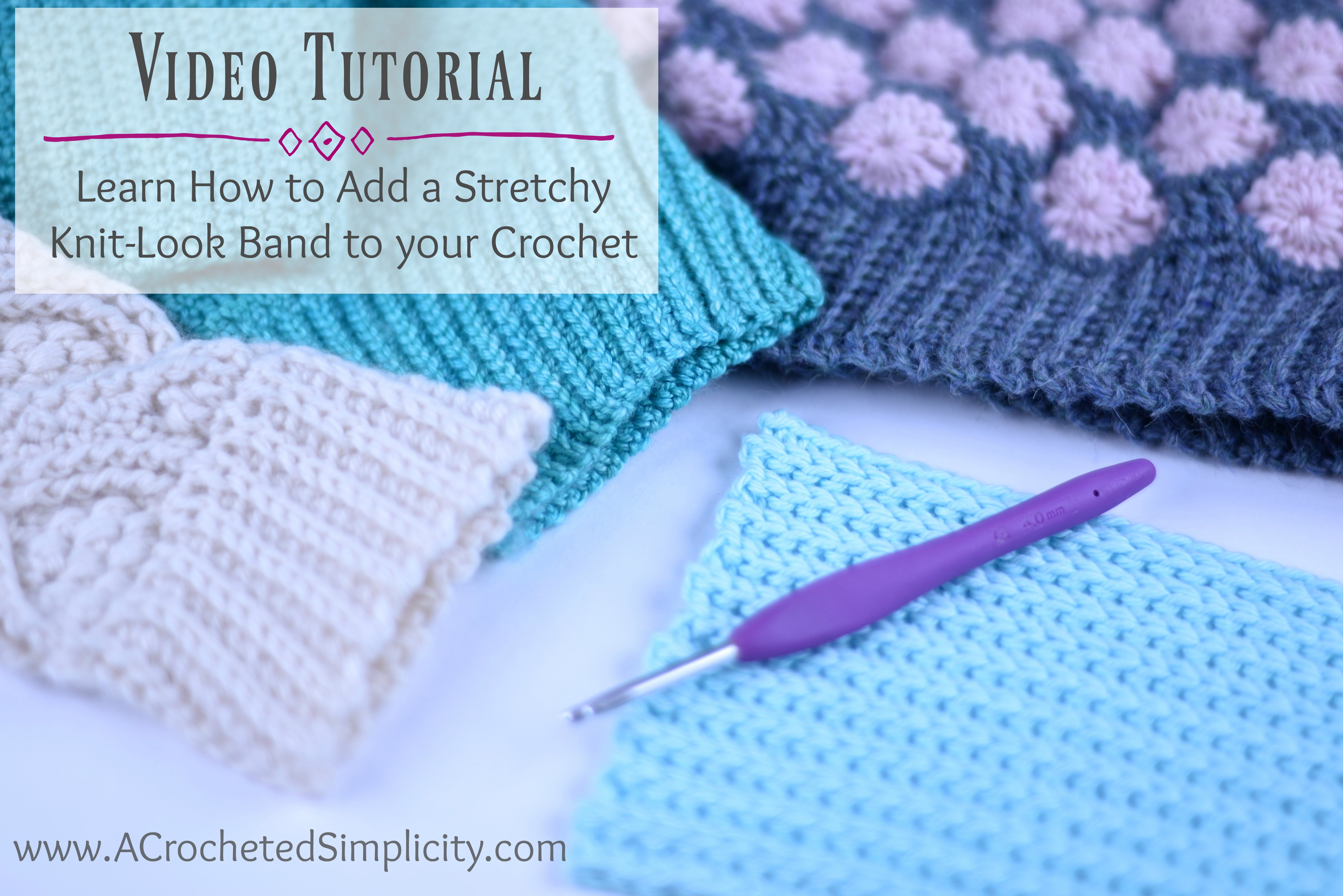 How To Add A Stretchy Knit Look Ribbed Band Or Cuff To