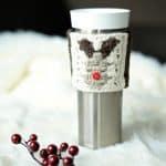 Free Crochet Pattern - Reindeer Coffee Sleeve/Cozy by A Crocheted Simplicity