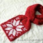 Free Crochet Pattern – Snowflake Keyhole Scarf