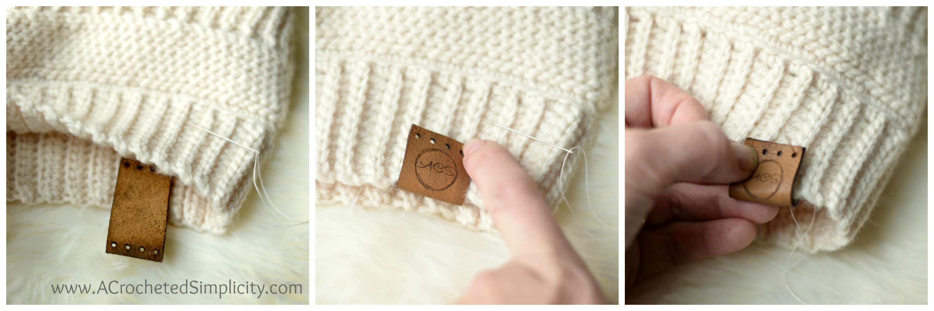 f62cf1e0161 A Complete Photo Tutorial - How to Add Tags to Your Handmade Crochet Items  by A