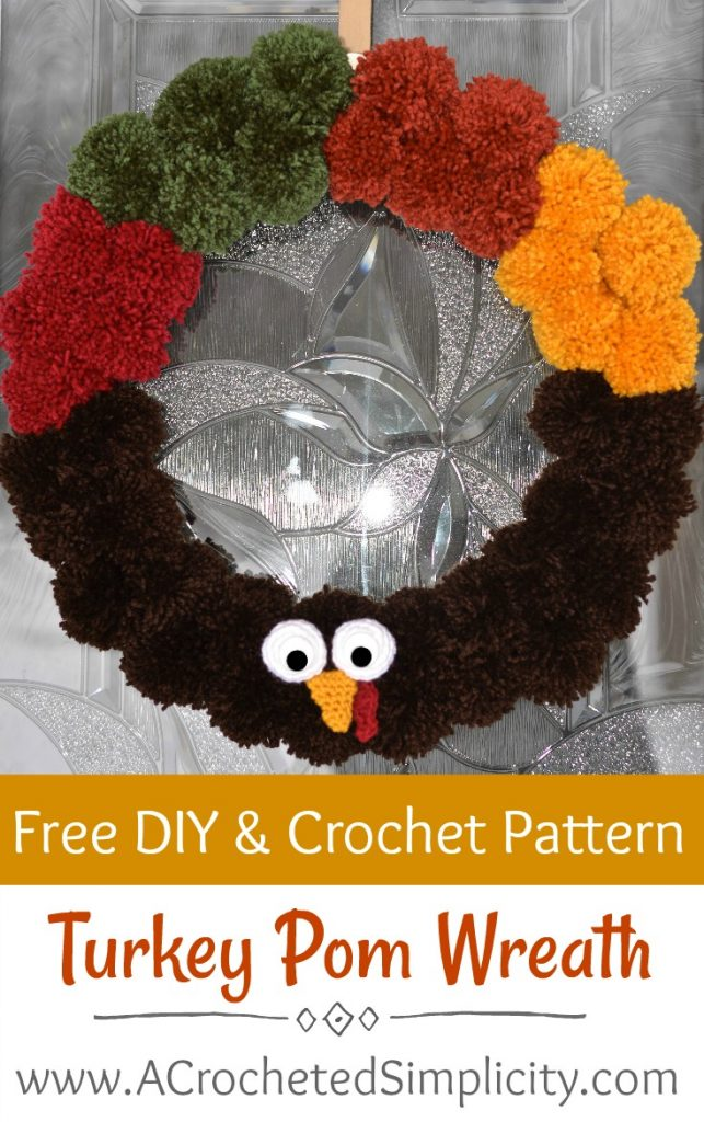 Free Crochet Pattern & DIY Project - How to Make A Turkey Wreath by A Crocheted Simplicity